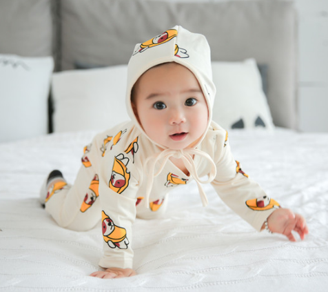 Kids 2017cute printed autumn infant baby clothes cotton Jumpsuit Romper Dress Up