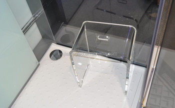 Transparent Acrylic Bathroom Stool Acrylic Shower Bench