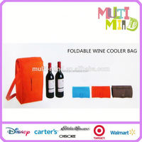 Professional polyester insulated wine cooler bag ,children lunch bag