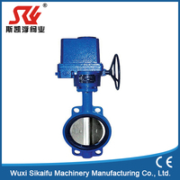 china supplier worm gear type manual Wafer butterfly valve Medical grade