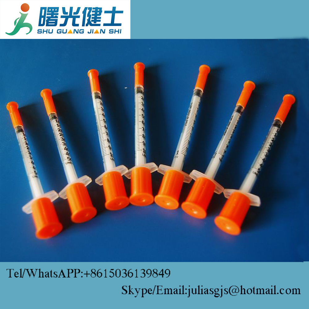 Free sample orange cap insulin syringe disposal with factory price