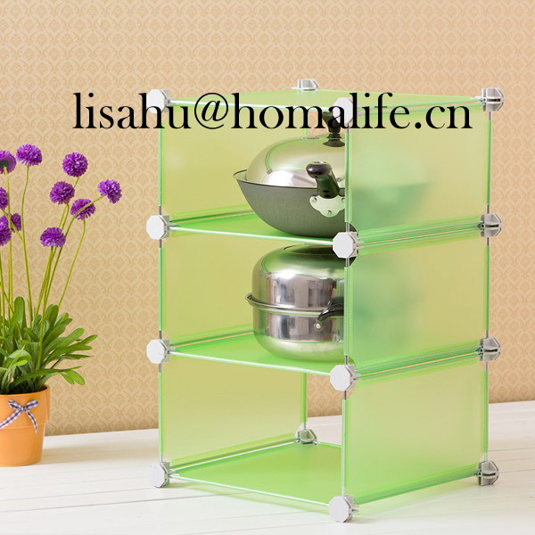 Popular plastic board storage cubes for cosmetics