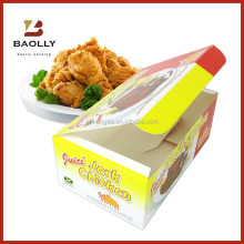 Wholesale custom cardboard box food paper fried chicken packaging packing lunch box