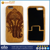 [NP-2385] Zebra-stripe Real Wood Eco-friendly Cell Phone Case for iPhone 6