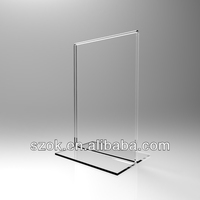 acrylic clear tabletop outdoor waterproof paper insert sign holder