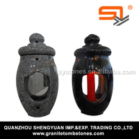 granite light tombstone lantern for funeral from China