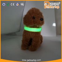 Amazon Hot Sell 2017 Reflective Nylon Dog Collar Heavy Duty Glowing Led Dog Collar