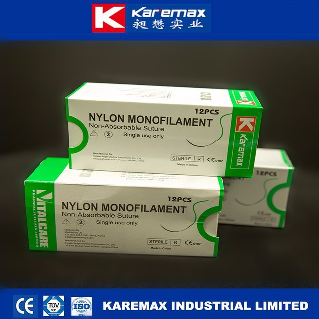 2017 Hot selling nylon surgical monofilament suture thread with needle