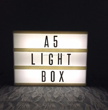 A5 light box with letters advertising light box cinematic led light box
