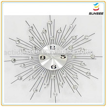 Newest style hot sale cartoon shaped design decorative wall clock big size with acrylic