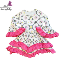 Wholesale Autumn & Winter Long Sleeve Baby Dress Floral Print Girls Frocks Fashion Children Girl Dress