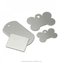Blank design metal custom dog tags