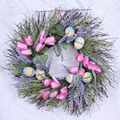 Easter Holiday Decoration Easter egg Wreath with Twigs