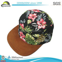 We Can Make Custom Brown Suede Brim Hawaii 5 Panel New Hats