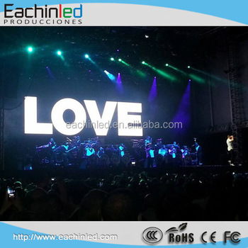 LED Technology Outdoor Videoscreen 36m2 Stage Rental LED Display Portugal