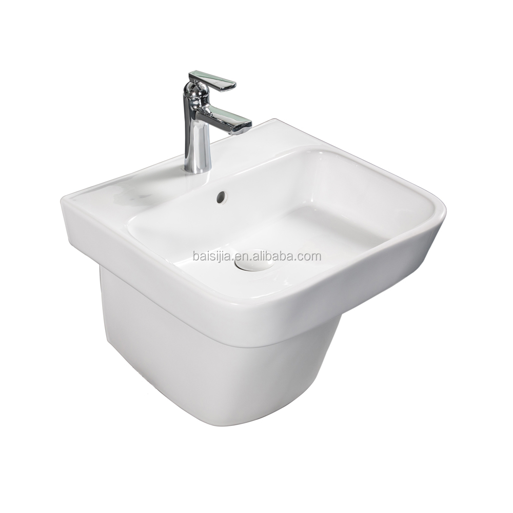 Sanitary ware ceramic wall hung basin/wall-hung sink/bathroom (BSJ-A8523)