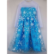 Pretty design popular kids frozen princess elsa costume with snowflake BC12441