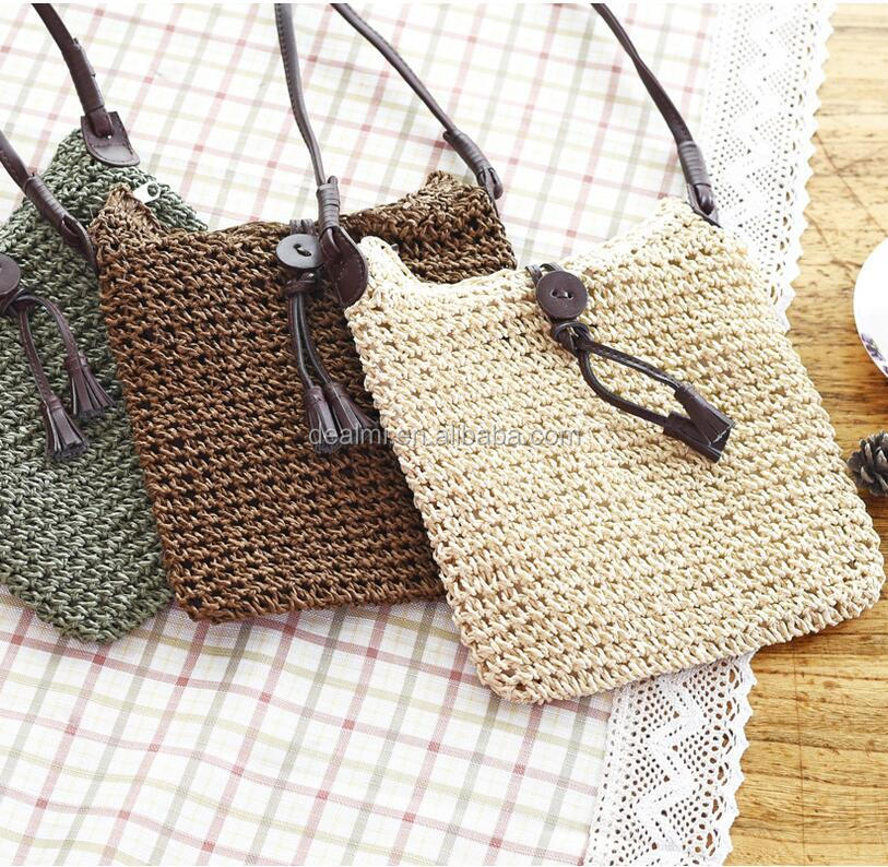 DEMI Wholesale fashion summer straw beach tote paper straw bag