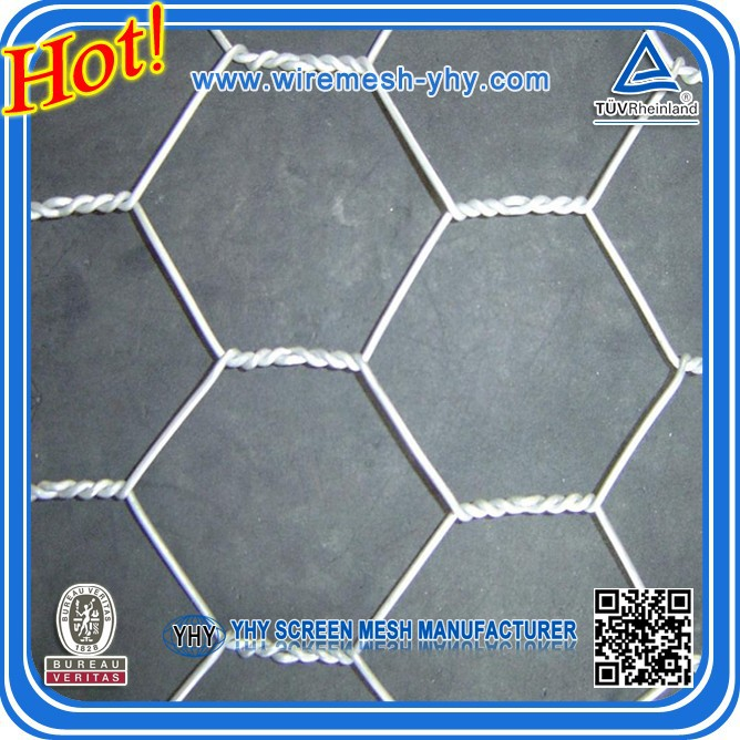 hot dipped galvanized hexagonal wire netting/chicken wire mesh/hexagonal decorative chicken wire mesh