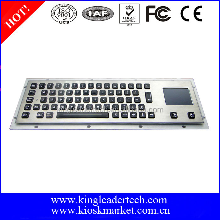 Best Selling LED Backlight Metal Keyboard with Touchpad