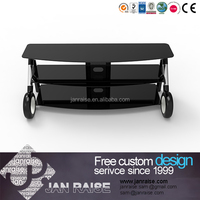 Glass furniture lcd outdoor hotel tv stand