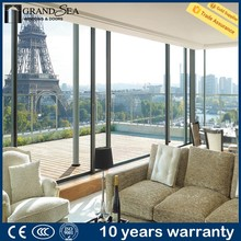 Modern design interior partition usage aluminum bar for window and door with insect screen