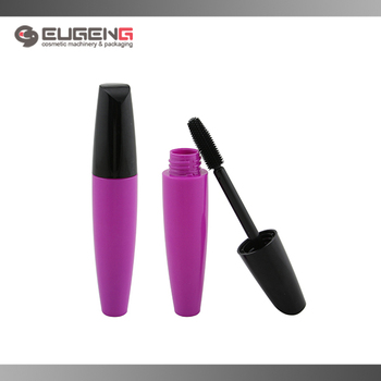 plastic empty mascara tube with brush