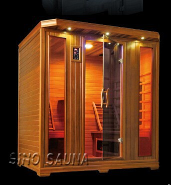 4 person wood sauna infrarred individual offers total relaxation and comfort