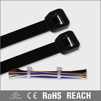 Nylon plastic back to back cable tie