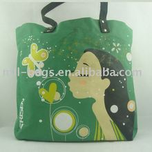 nice green tote shopping hand bag for women