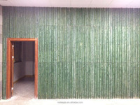 Bathroom or kitchen decorative green color plain concrete 3d wall panel