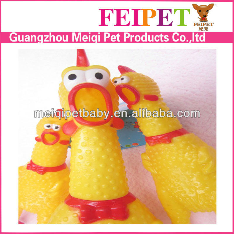 Funny chicken pet toys squeaky dog toys