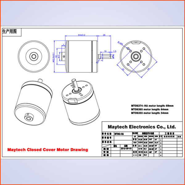 Maytech electric skateboard kit brushless outrunner 170kv 6365 motor offroad electric skateboard motor