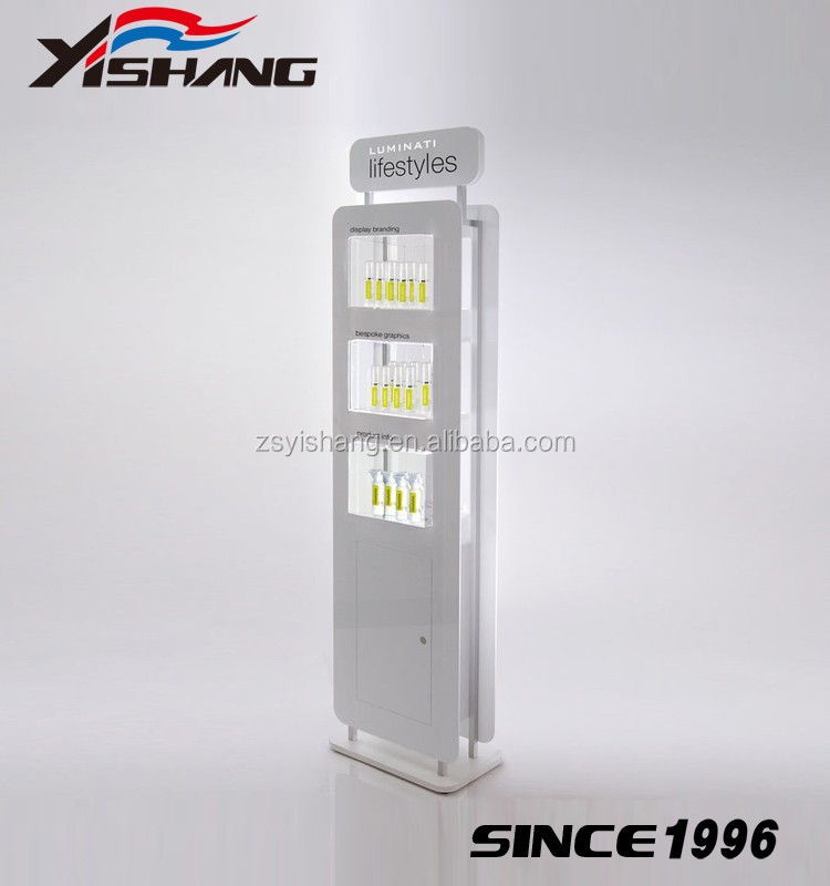 supermarket store shopping cosmetic display stand for body lotion