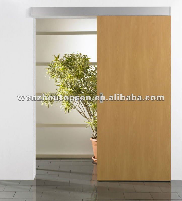 Solid wood sliding aluminum track,sliding barn door