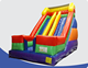 double lane inflatable jumping dry slide adults inflatable bouncer slide with blower