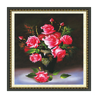 Pink Flower Pattern Embroidery Diamond &Rhinestone Painting DIY Kit Cross Stitch For Living Room