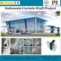 New !! visible aluminum glass curtain wall with technical and installation support
