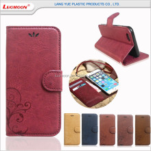 Customized pu leather mobile phone smartphone cases for iphone4 4s 5 5s 5c 5se 6 6s 6c plus se case