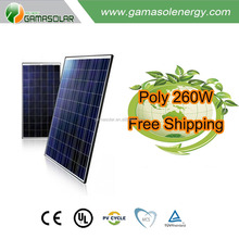 mnre approved soalr panel 260w china manufacturer best price solar system for commercial