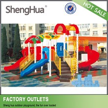 Popular outdoor playground plastic swing and slide for sale