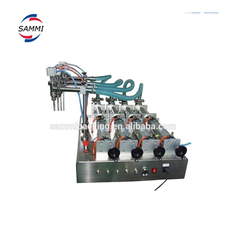 Newest product piston 4 nozzles filling machine for vacuum perfume,liquid,beverage,milk,oil,mineral water