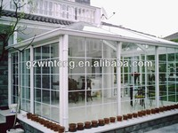 american style tempered glass with aluminium frame sunrooms