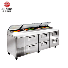 SLW11 Commercial Pizza Sandwich Making Refrigerated Counter