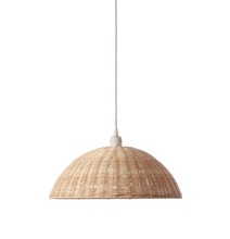 European Style Vintage Industrial Willow Pendant Light Square Round Rattan Hanging Lamp