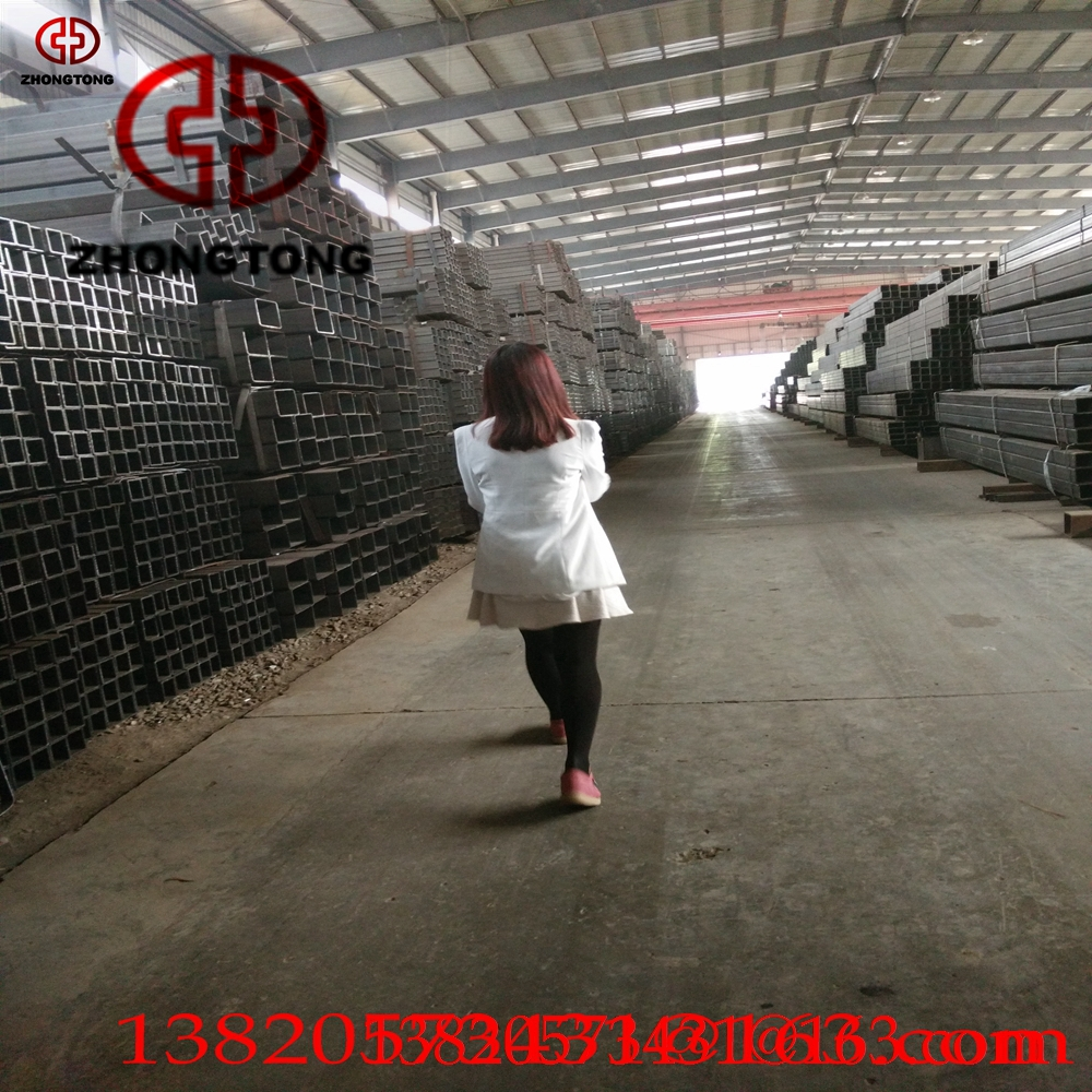 best prices black lack Rectangular tube square steel pipe hollow section