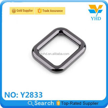new design black curtain colored metal suape ring for bag