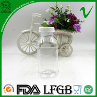 square clear wholesale empty bpa free plastic juice bottles with screw cap