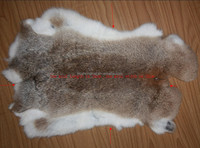 wholesale top quality natural brown rabbit skin fur