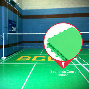 Portable antislip new type pp interlocking standard sizes rubber outdoor sports court badminton flooring mat
